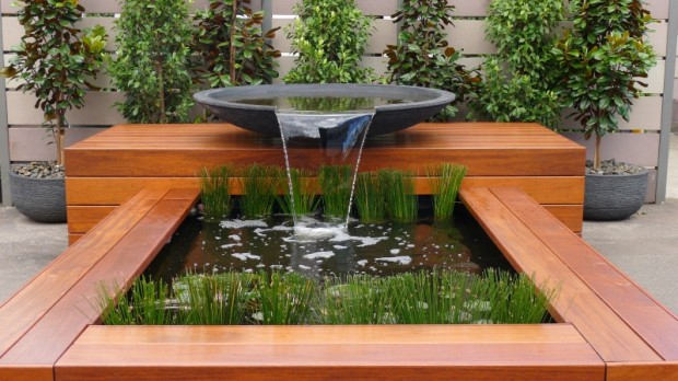 Water features natural swimming pools - Fuentes de agua para jardin exterior ...